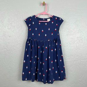 Gymboree Size 4 Navy Blue Popsicle Print Dress